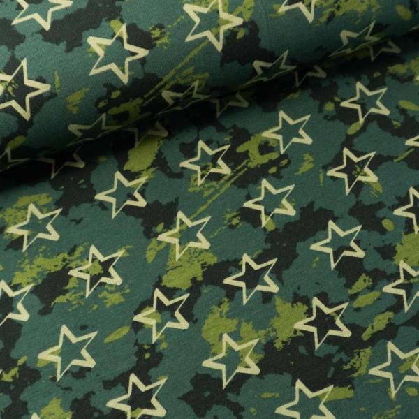 Soft Sweat angeraut Camouflage Stars khaki