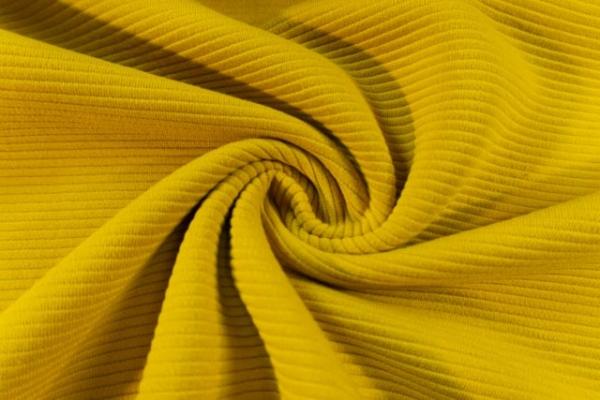 Baumwolljersey Stripe Knitted senf Ökotex 100