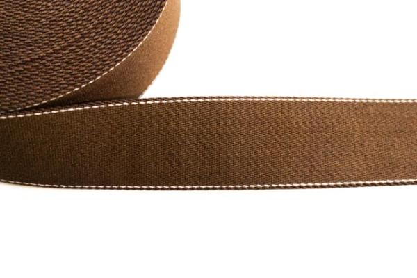 Edles Gurtband 40mm braun - natur abgesteppt Ökotex 100