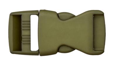 Rucksackschließe khaki 25mm Kunststoff
