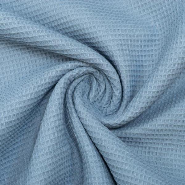 Waffelpiqué MINI jeansblau