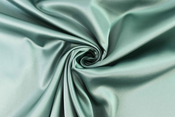 Satin Stretch Uni dusty mint Ökotex 100