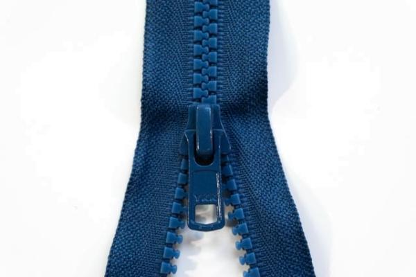 YKK nicht teilbarer Reißverschluss Krampe jeansblau Ökotex 100