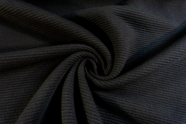 Baumwolljersey Stripe Knitted schwarz Ökotex 100