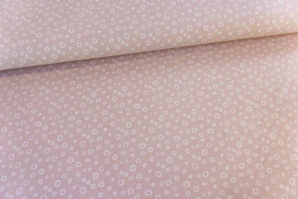 Baumwolljersey Bubbles altrosa-weiß Ökotex 100