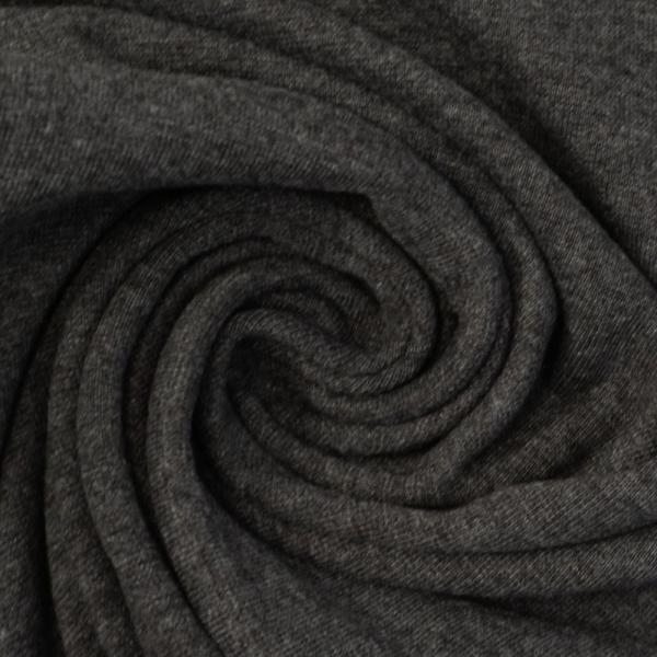 Bündchen Feinstrick meliert schwarz