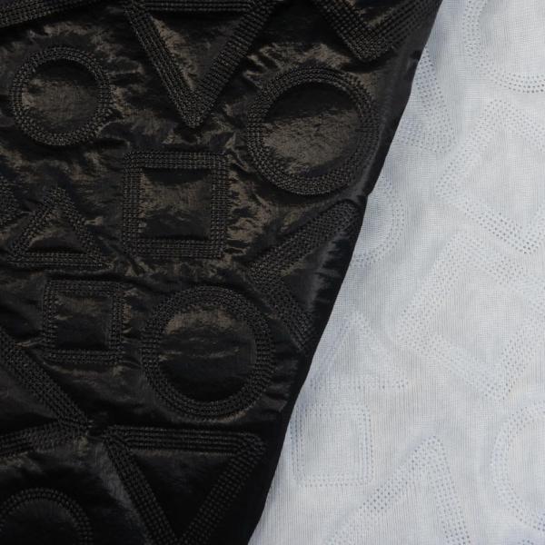 Jackenstoff Steppstoff wattiert Formen schwarz
