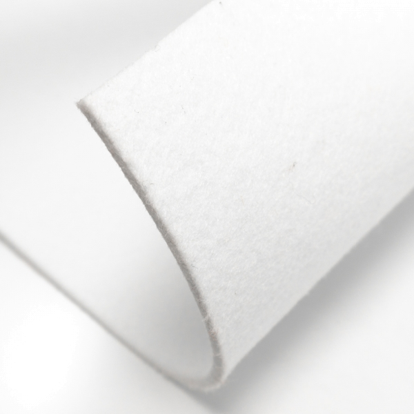 Filz 5mm Bastelfilz Uni weiß