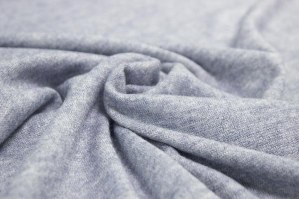 Pashmina-Look Strick-Jersey jeansblau meliert Ökotex 100