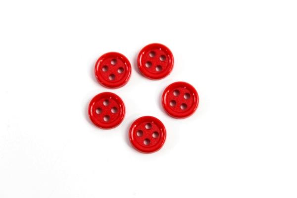 Hemd oder Blusenknopf 11 mm rot