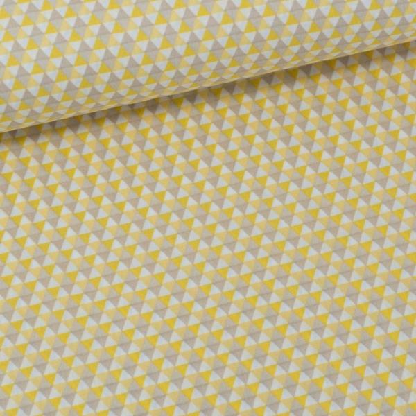 Baumwollwebware Triangles gelb