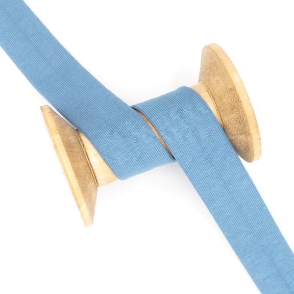 Jersey Schrägband Deluxe jeansblau-hell