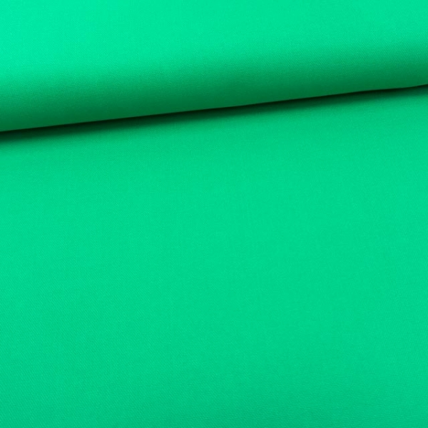 1,4 m Stück Canvas Uni grün