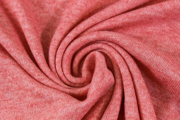 Pashmina-Look Strick-Jersey coral-rose meliert Ökotex 100