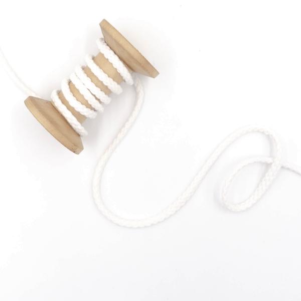 Kordel geflochten 6mm weiß