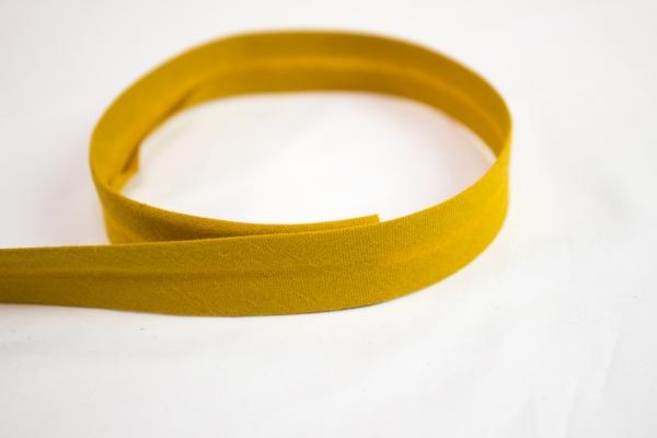 Schrägband vorgefalzt senf Ökotex 100