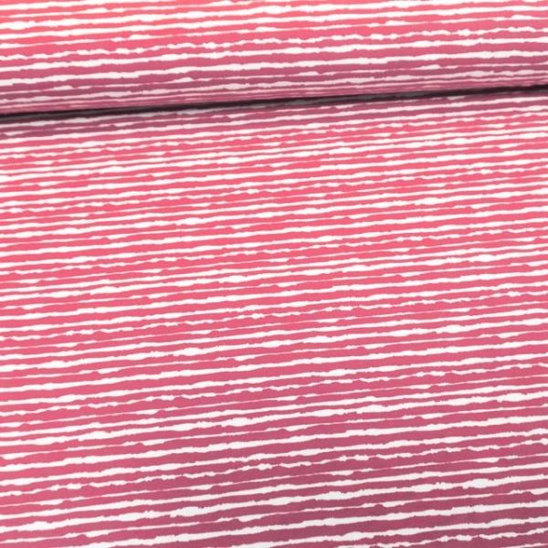 Baumwolljersey Unregular Lines rosa
