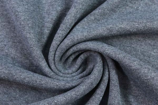 Bündchen Feinstrick SCHWARZ meliert jeans dunkel Ökotex 100