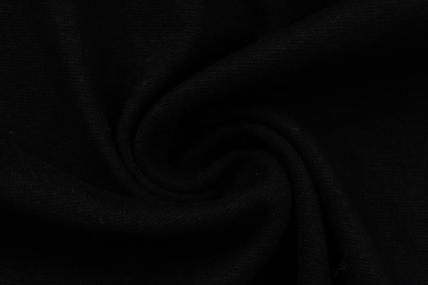 Bündchen Feinstrick Uni midnight black -hohe Sprungkraft- Ökotex 100