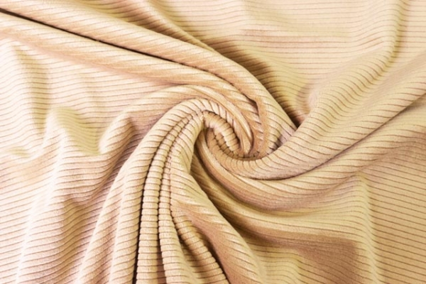 Feincord-Jersey beige ÖkoTex 100