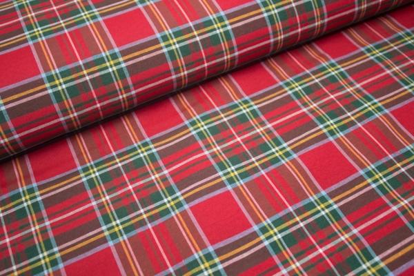 Canvas Schottenkaro Rot/grün GROß100% Baumwolle Ökotex 100