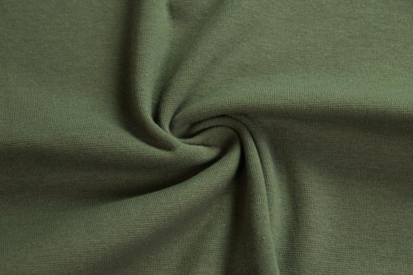 Bündchen Feinstrick Uni oliv dunkel Ökotex 100