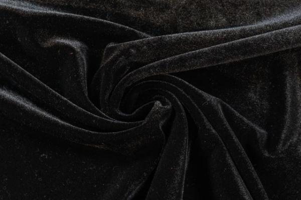 Velvet Samt-Sweat -mehr Glanz - elastisch schwarz Ökotex 100