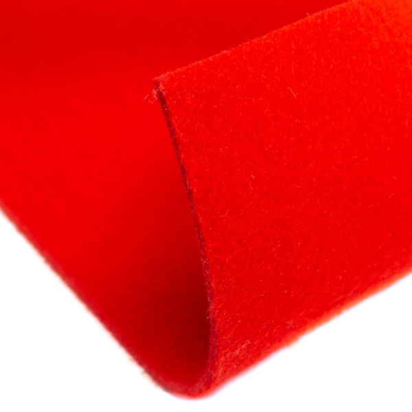 Filz 5mm Bastelfilz Uni rot