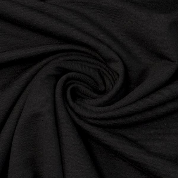 Bamboo Sommersweat Soft Uni schwarz