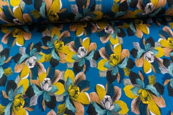 Viskosejersey Magnolie blau Ökotex 100