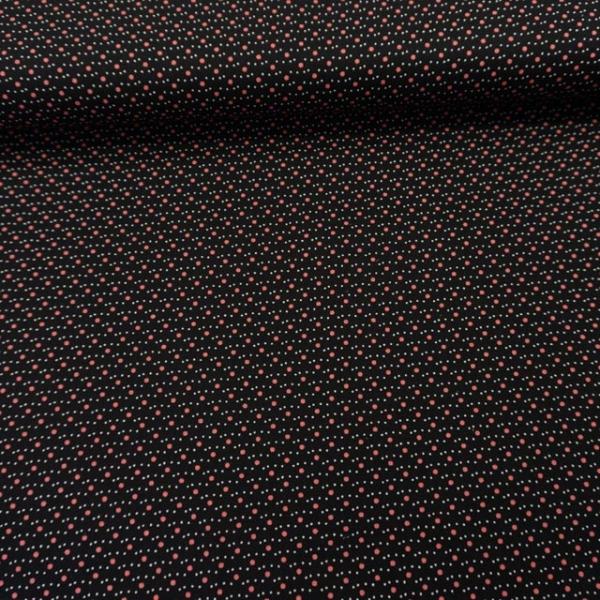 Baumwollwebware Popeline Mini and Small Dots black