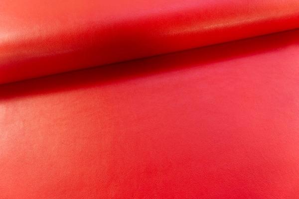 Festes Taschenleder glatt Rot