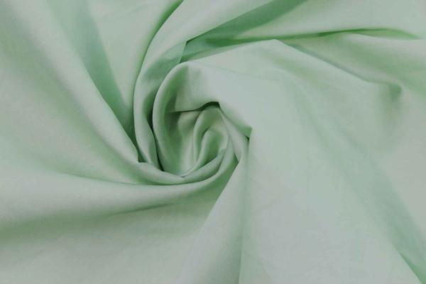 Baumwolle Poplin Stretch Uni knitterarm lindgrün Ökotex 100