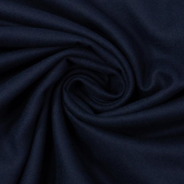 Flanell Baumwolle Uni dark navy