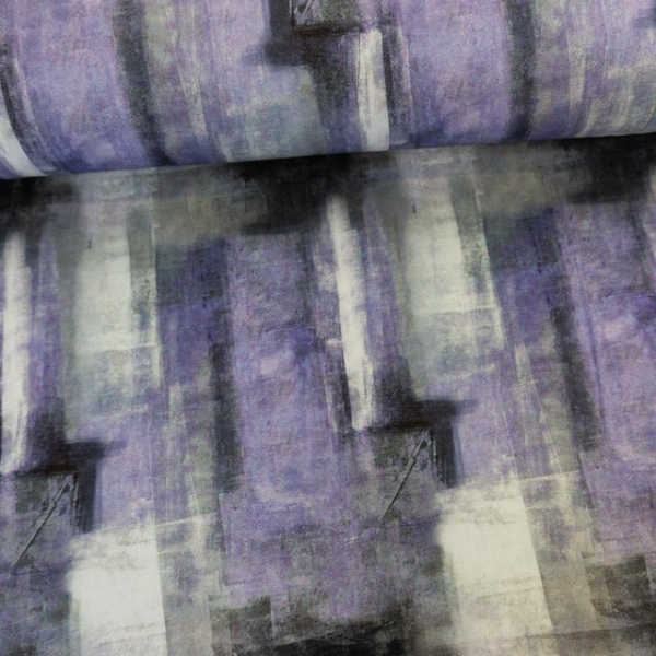 Baumwolljersey Stripe Art flieder Ökotex 100