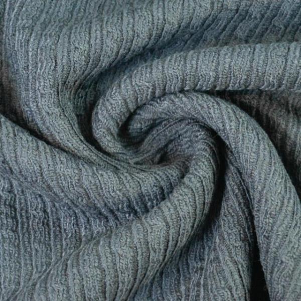 Wollstrick-Jacquard Nora jeansblau Ökotex 100