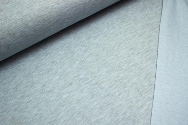 Pastelljersey Doubleface- Blau melange Öko Tex100