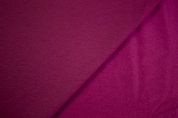 Jersey-Sweat angeraut pink-beere dunkel SUPERWEICH Ökotex 100