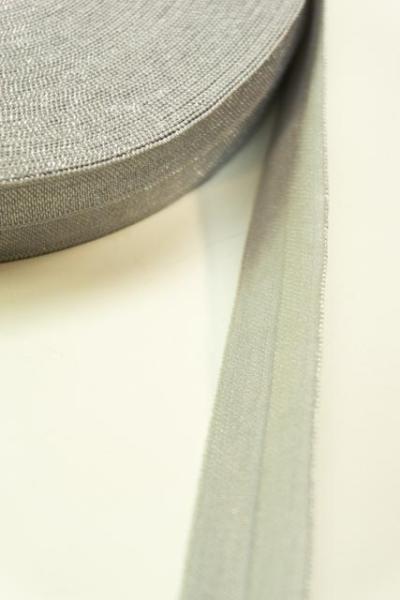 Falzgummi Falzband silber-grau 20mm Ökotex 100