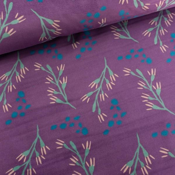 Baumwollsamt Stretch Sträucher lila