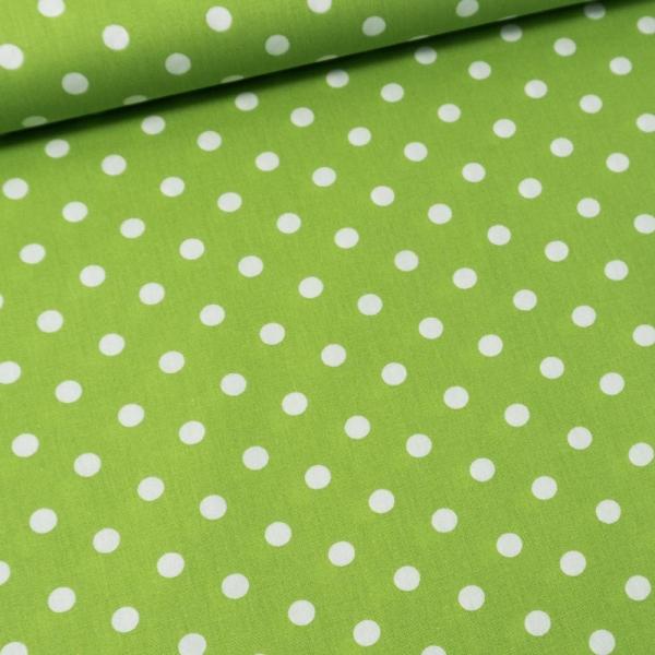 Baumwolle/Webware Dots lime Ökotex 100