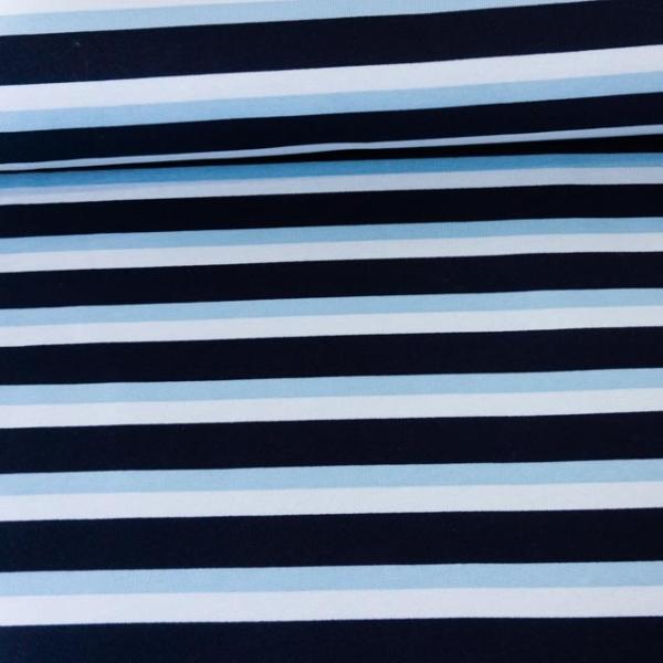 Sweat angeraut Streifen blau Ökotex 100