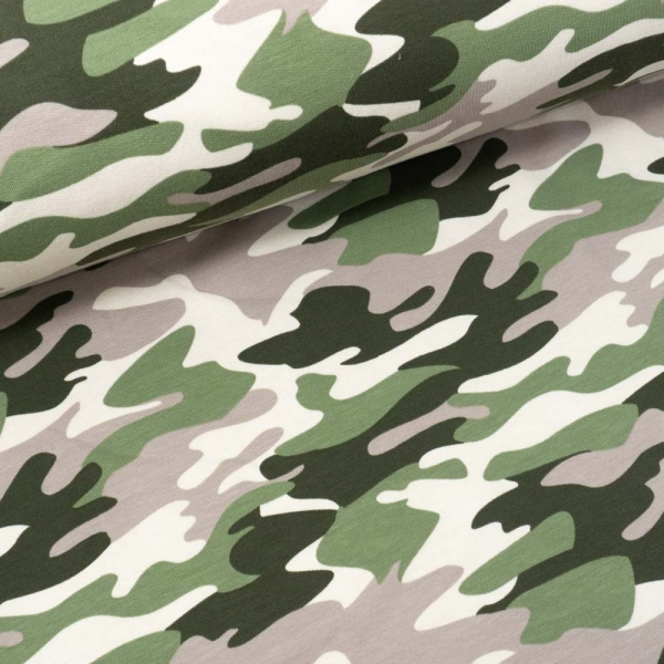 Sweat French Terry Camouflage taupe