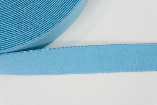 Gummiband SOFT jeansblau hell 25mm