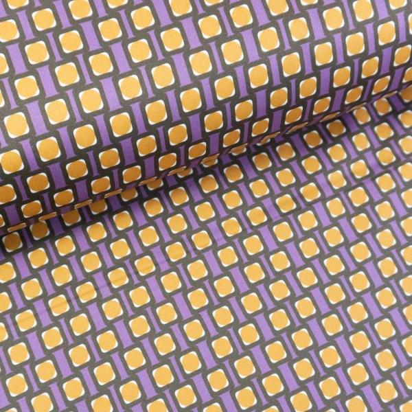 Baumwoll-Gabardine Stretch Abstract lila