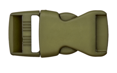 Rucksackschließe khaki 40mm Kunststoff