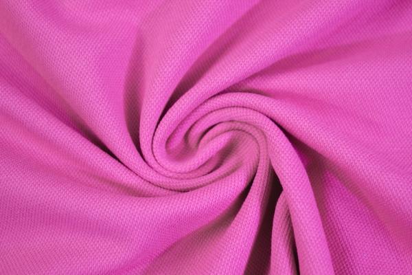 Poloshirt Baumwolljersey Uni pink Ökotex 100