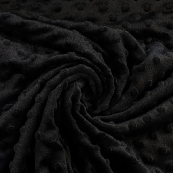 Minky Fleece schwarz Ökotex 100