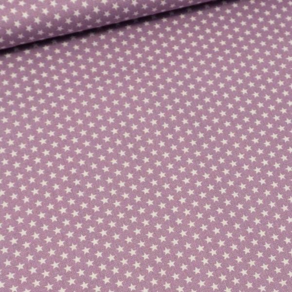 Baumwollwebware Mini Sterne flieder
