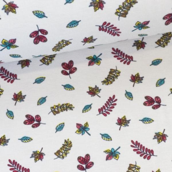 Baumwolljersey Babyblätter hellbeige Ökotex 100